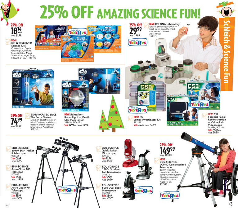 Toys r us Science Toys